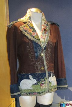 Passmenterie candidate    Upcyled Mad Hatter Tailcoat with White Rabbit by enduredesigns, $500.00    Etsy