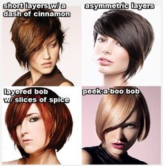 Layered bobs... IN LOVE WITH THE ASYMMETRIC BOB
