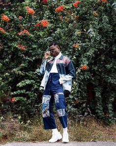 """91 Likes, 2 Comments - Atto Tetteh (@attotetteh) on Instagram: """"Menswear blogger(@stylernest) scoring ideal outfit goals in our embroidered denim jacket and wide…"""""""