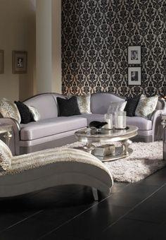 AICO Hollywood Swank Sectional Sofa By Michael Amini