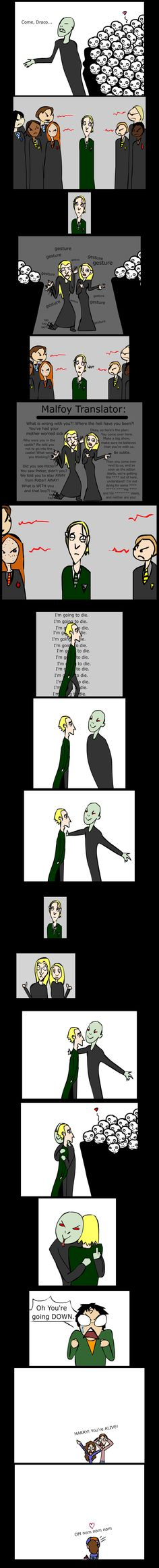 The terribly awkward hug from Deathly Hallows Part 2, by Deviant Art's airagoncharda.