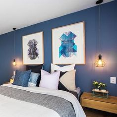 Flawless colour palette and bed dressing - the Judges loved it. And so did we! Shop @ShayandDean's look, including the artwork, cushions and styling pieces at www.theblockshop.com.au now. Just Shop by Couple // Shay & Dean for details. #theblockshop #theblock #bedroom