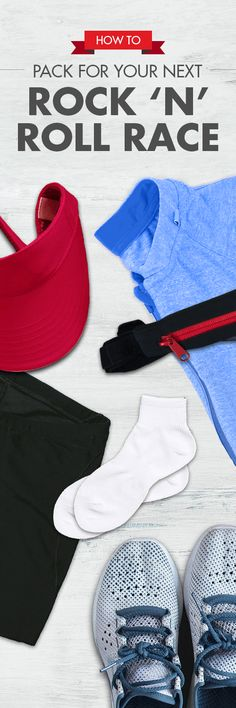 Make your Rock 'n' Roll race a success by referring to this helpful guide on what running items you should pack for your next destination race. Rock And Roll Marathon, You Rock, Running Gear, Race Day, Rock N Roll, Success, Racing, Education, Fitness