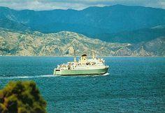 New Zealand Railways Ferry Postcard New Zealand, Ships, Boat, Mountains, Nature, Travel, Boats, Dinghy, Naturaleza