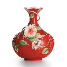Franz Hibiscus Island Beauty Vase