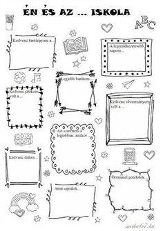 Játékos tanulás és kreativitás: Én és az ... iskola Bullet Journal Decoration, Bullet Journal Banner, Planner Doodles, Punch Needle Patterns, Bullet Journal Inspiration, Teaching Tips, School Projects, Preschool Activities, Crafts To Make