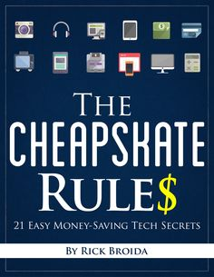 Read this exclusive excerpt from the new book, 'The Cheapskate Rules,' then get a deal on the book itself! Read this article by Rick Broida on CNET News. via @CNET