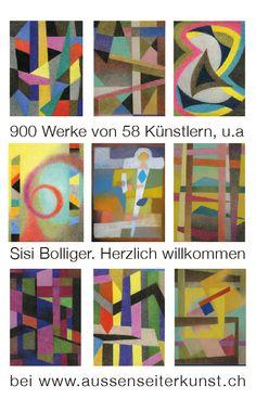 900 traveaux de 58 Art Brut-artists d'une collection privée sont à découvrir sur www.aussenseiterkunst.ch ou www.outsider-art-.brut.  Sisi Bolliger a dessiné en cachette et elle n'a jamais exposé de sa vie ses oeuvres présentées dans l'internet pour la première fois.