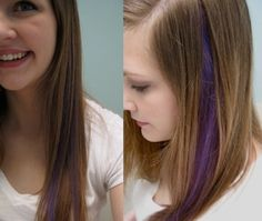 A Manic Panic Experiment: Purple Hair Streak--- I'll be getting this done sometime this week