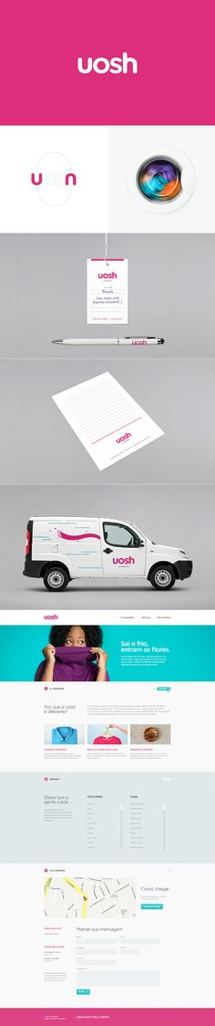 Uosh Laundry by Diogo Akio — DCollection™ #branding #interface