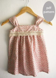 Summer Girl Dress Pattern Tutorial/ Toddler dress pattern/ Girls Dress Pattern. Girls Sewing Pattern. Easy Sew Size 2T,3T,4T,5,6 via Etsy