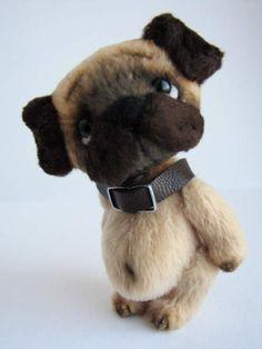 Pug-dog By Marina Dmitrieva - Bear Pile