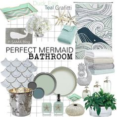 Mermaid bathroom decor vintage kids set of 3 little rules girls home Mermaid Bathroom Decor, Mermaid Bedroom, Mermaid Home Decor, Beach Bathrooms, Upstairs Bathrooms, Seaside Bathroom, Coastal Bathrooms, Family Bathroom, Small Bathrooms