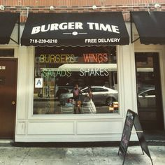 """New favorite #burger joint in the #bronx! Awesome some food and the #boy behind the counter is so #cute! #restaurant #cheap #newyork #nyc #burgertime…"""