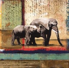 Fischer Warnica Serengeti Elephant 12.00 x 12.00 Poster Print by The Poster Corp, http://www.amazon.com/dp/B0072LUNX4/ref=cm_sw_r_pi_dp_JlBvsb1RZ3N6A