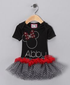 PERFECT PERSONALIZED PARTY DRESS FOR A MOUSTASTIC PARTY!!