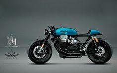 Cafe Racer Pasión — Moto Guzzi Cafe Racer - Holographic Hammer -...