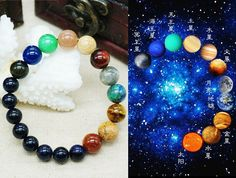 Hot New Fashion High Quality Natural Stone Precious Beads Lovers Bangle Night Sky Bracelet Women and Men Unique Gift Jewelry -in Strand Bracelets from Jewelry on Aliexpress.com | Alibaba Group