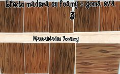 EFECTO MADERA EN FOAMY O GOMA EVA   ( 3 ) . Foam Crafts, New Hobbies, Bamboo Cutting Board, Decoupage, 1, Flooring, Youtube, Hobby, Friends