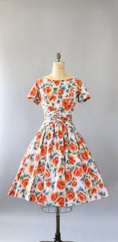 1950's Floral Print Dress