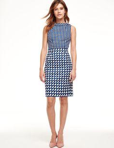 Martha Dress Smart Day Dresses at Boden Smart Day Dresses, Dresses For Work, Blue And White Dress, Necklines For Dresses, Dress Backs, Playing Dress Up, Mantel, Work Wear, Strapless Dress