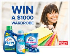 "Win a $1000 ""Fresh and Clean with Purex"" Wardrobe!"