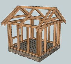 Ana White | Build a East Fork Free Doghouse (or Playhouse or Storage Shed) Plans (Kind of)... | Free and Easy DIY Project and Furniture Plans