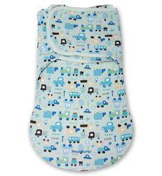 Summer Infant Конверт для пеленания с 2 способами фиксации SwaddleMe WrapSack Transport (голубой с машинками), размер S  — 2000р.  76370 SWADDLEME® WrapSack Конверт для пеленания с 2 способами фиксации, размер S/M, голубой с машинками (мал)