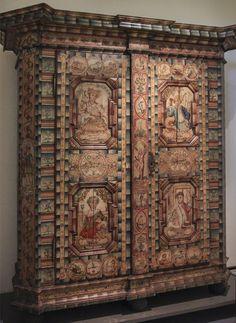 Painted wardrobe, 1791, Vienna, Austrian Museum of Folk Life and Folk Art