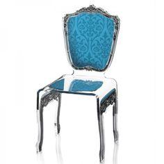 Voici une chaise baroque est disponible dans de nombreuses couleurs pour s'accorder au mieux à votre salle à manger !