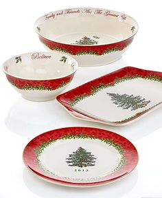 Spode Dinnerware, Christmas Tree New for 2013 Collection - Casual Dinnerware - Dining & Entertaining - Macy's