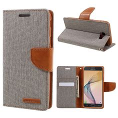 MERCURY GOOSPERY Cover for Samsung J5 Prime Cover Shell Canvas Diary Leather Case for Samsung Galaxy On5 (2016) Case J 5 Prime