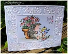 Instead of Ironing Blogspot: Penny Black: Message from above - a Thank You card