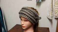 Check out this item in my Etsy shop https://www.etsy.com/listing/515771677/a-ponytail-hat-slouchy-hat-and-headband