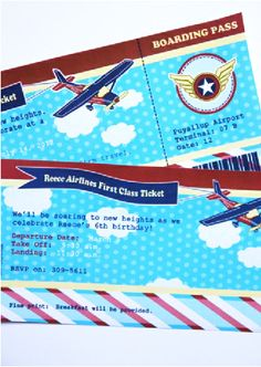 Little aviator airplane birthday party printable supplies shop