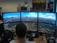 Perfect PC Gaming setup? //I find this a bit excessive. I only really want three screens..