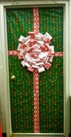 Hand Print Christmas Tree School Door Decorations
