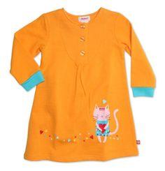 Zutano Little Girls Kitty Kat Henley Dress