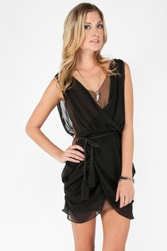 tobi Belvedere Draped Dress