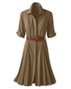 Safari shirtdress...when you've got a BASIC like this, there are so many ways to wear it!