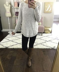 fall outfit idea riding boots black leggings sweater, petite fashion blog, stylish petite, petite friendly ponchos, riding boots, weekend style - click the photo for outfit details!