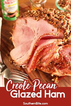My Creole Pecan Glazed Ham is a quick and easy way to impress your holidays guests! The recipe only calls for 6 ingredients! Pork Recipes, Cooking Recipes, Recipies, Aloo Recipes, Amish Recipes, Dutch Recipes, Sausage Recipes, Copycat Recipes, Italian Recipes