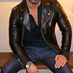 Men's Leather, Leather Pants, Jackets, Fashion, Juicing, Leather Jogger Pants, Down Jackets, Moda, Fashion Styles