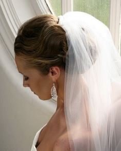 Bridal updo with veil | Wedding Updos With Veils