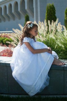 LDS baptism dress ideas Taylor Hamblin Photography