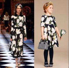 Dolce and Gabbana Mini Me Girls Tulip Collection Fall Winter 2016/2017