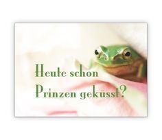 Freche Frosch Prinz Grusskarte - http://www.1agrusskarten.de/shop/freche-frosch-prinz-grusskarte/    00002_1_49, Foto, Grußkarte, Klappkarte, Romantik, Spruch, Sprüche, Tiere00002_1_49, Foto, Grußkarte, Klappkarte, Romantik, Spruch, Sprüche, Tiere