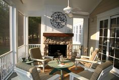 Eze breeze horizontal slider white frame clear vinyl for Gas fireplace screened porch