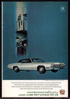 1969 CADILLAC Silver Fleetwood Eldorado Sixties 60s 1960s Car AD