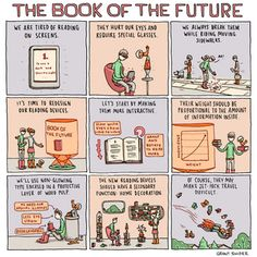 The Book of the Future poster by illustrator Grant Snider, originally seen in the NY Times Book Review.  Signed by the artist!  $22